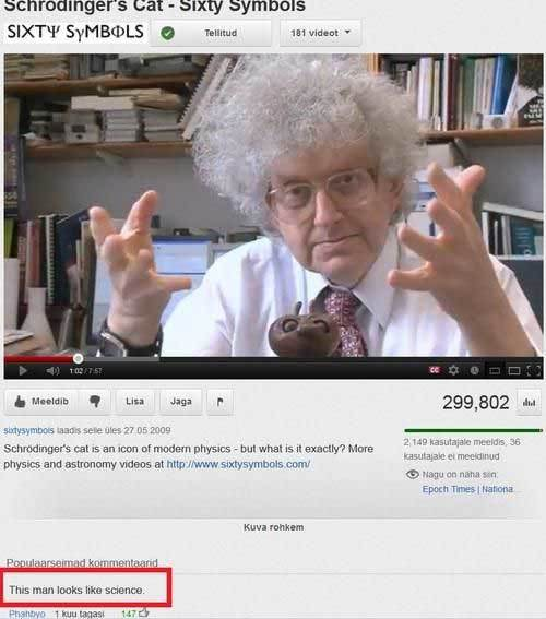 Funny Video Comments Science