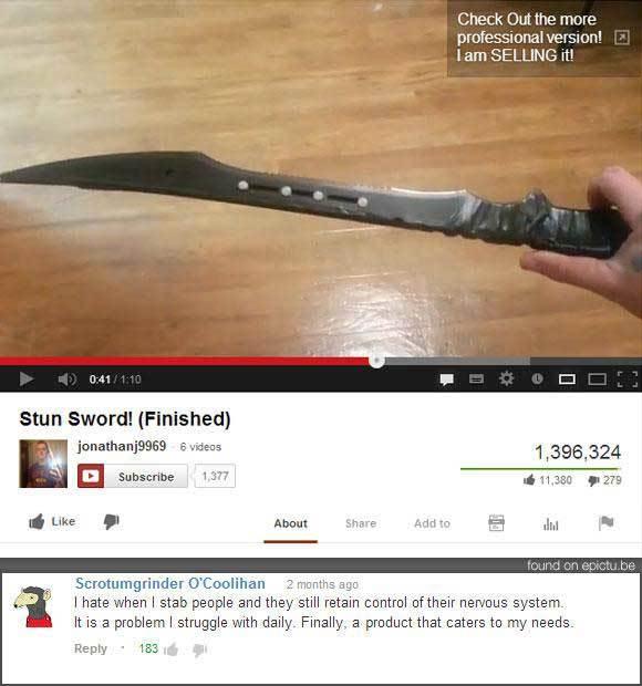 Funny YouTube Swords