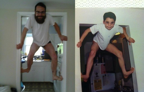 Funny Recreated Childhood Photographs