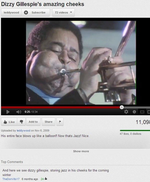 Image of: Americas Funniest Funny Youtube Comments Jazz Runt Of The Web The 40 Funniest Youtube Comments Of All Time