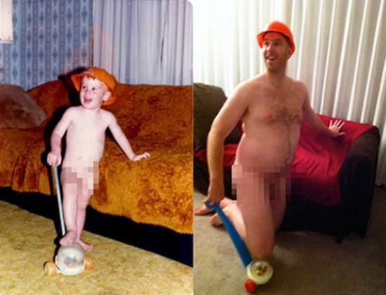 Hilarious Recreated Childhood Photo
