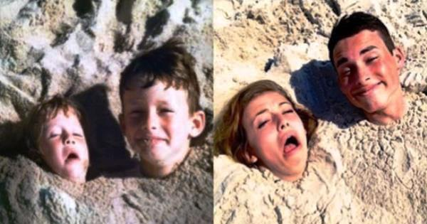 Kids Photos Recreated