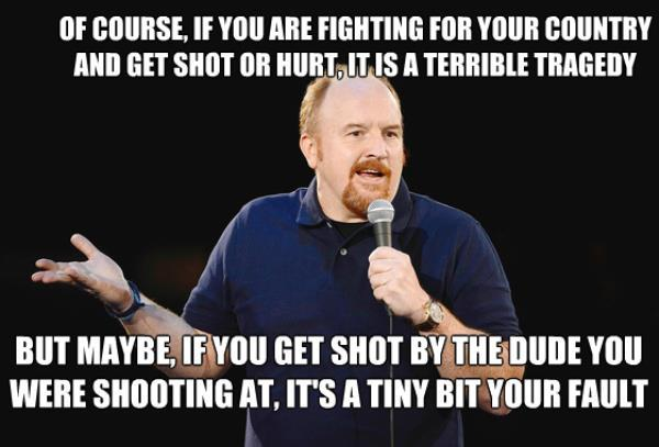 Getting Shot Louis CK Quotes