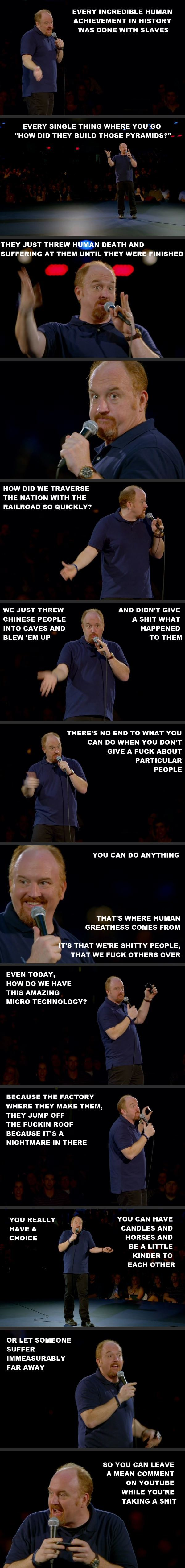 Louis CK Quotes Human Nature
