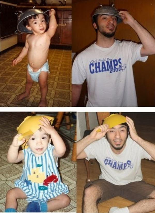 Recreated Childhood Photos Champs