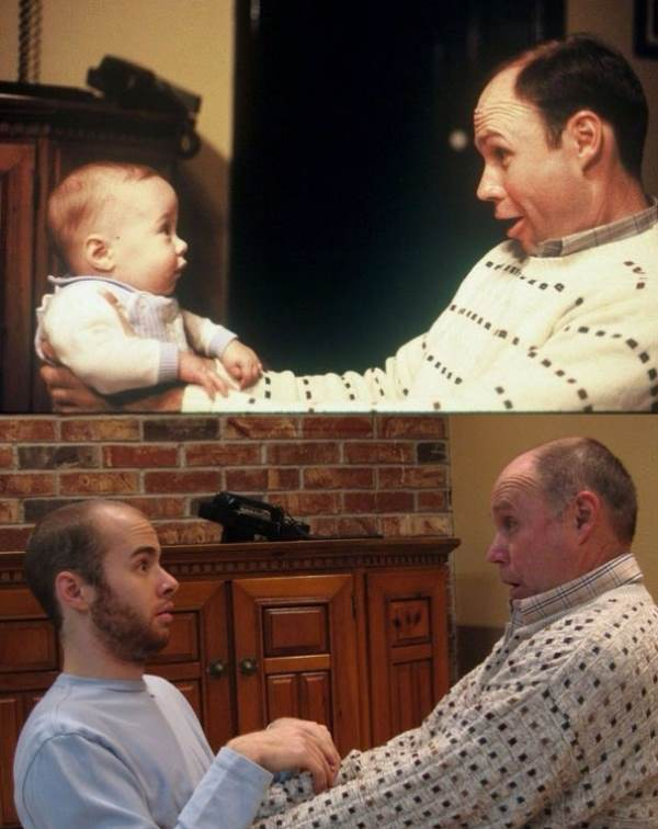 Recreated Childhood Pictures