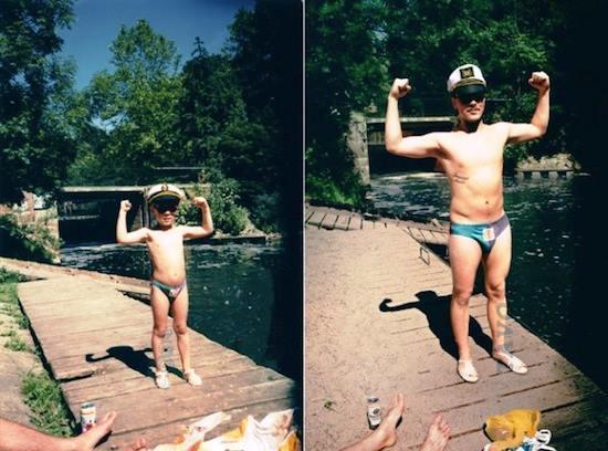 Flexing Childhood Photo