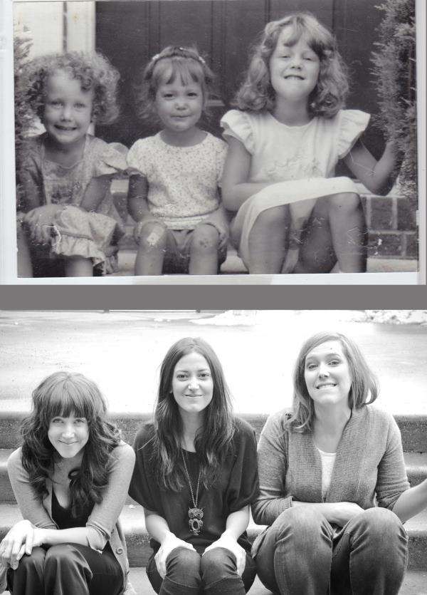 Recreated Childhood Photos Sisters