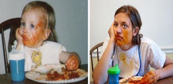 Childhood Photo Spaghetti