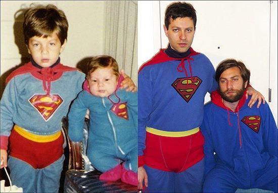 Recreated Childhood Photos Superman