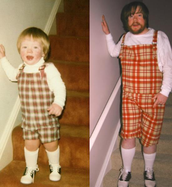Recreated Childhood Photo Suspenders