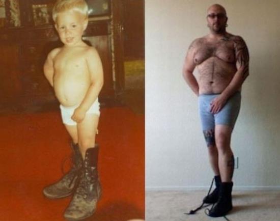 Recreated Childhood Photos Underwear