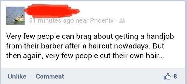 Ridiculous Facebook Posts Barber