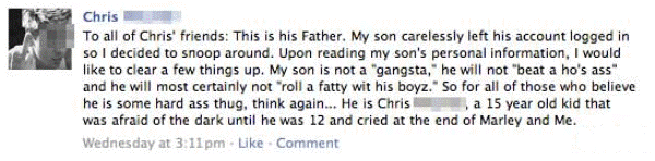 Ridiculous Facebook Posts Dad