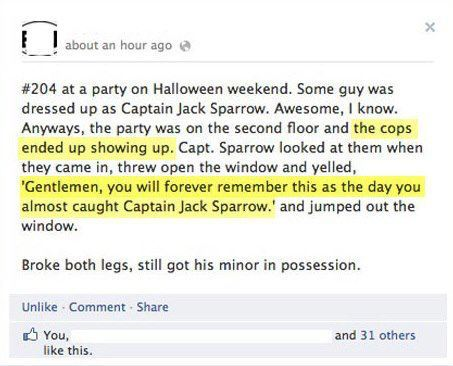 Ridiculous Facebook Post About Halloween