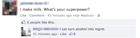 Ridiculous Facebook Posts Superpower