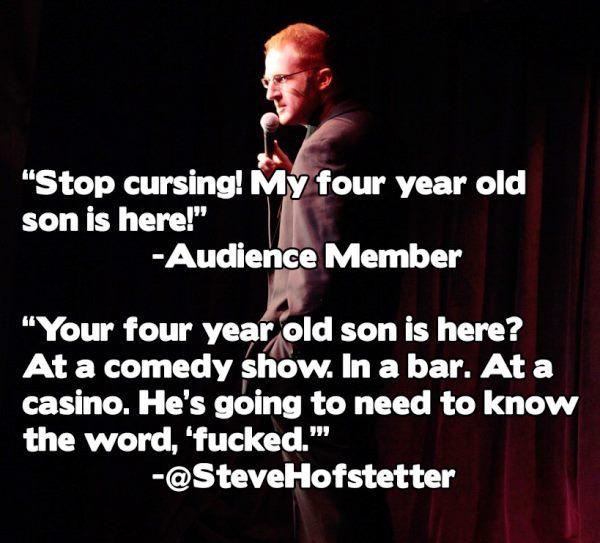 Cursing At A Casino