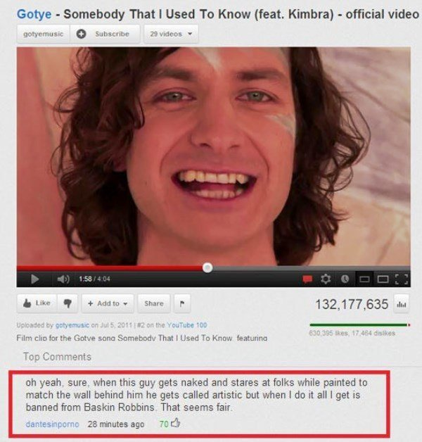 Gotye Music Video Comment