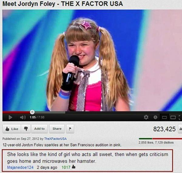YouTube Comments Happy Girl