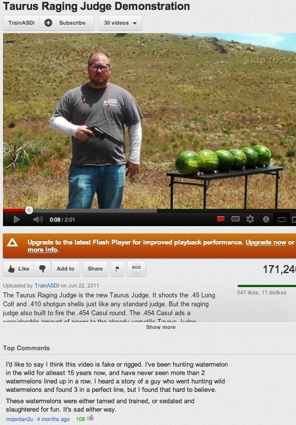 YouTube Comment On Watermelons