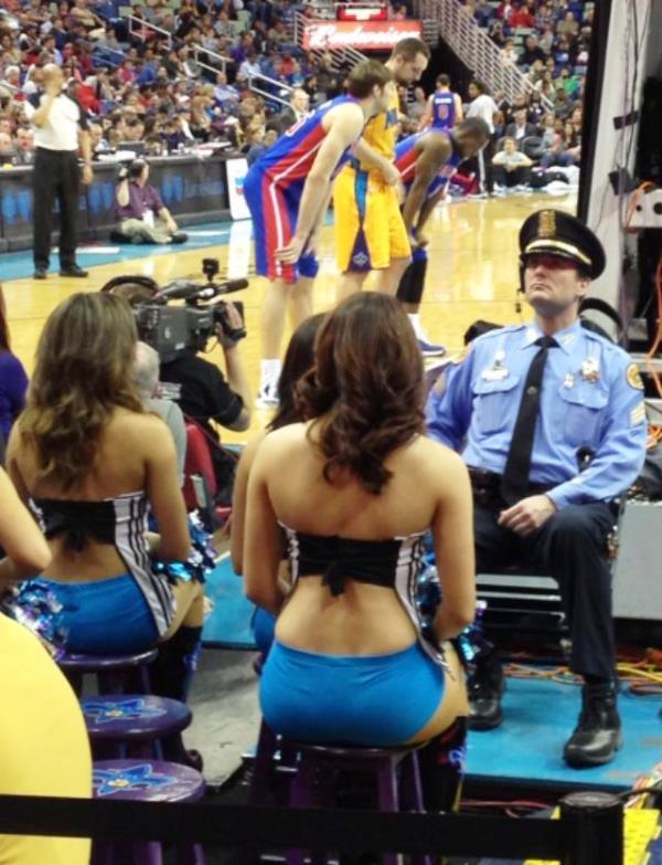 Basketball Game Security Guard