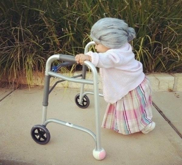 Best Halloween Costumes Baby As Old Lady