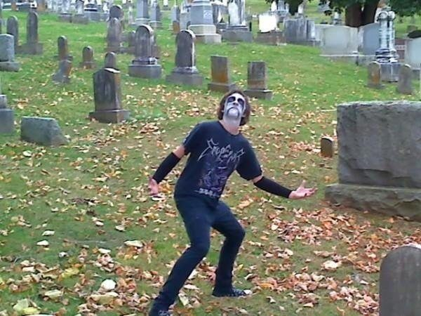 Cemetery Goth Teenager