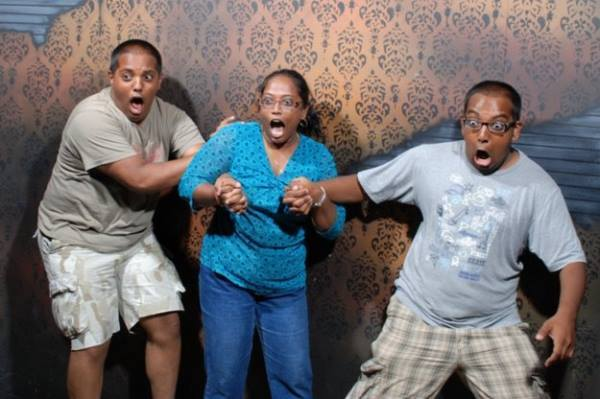 Haunted House Reactions Freaked Out