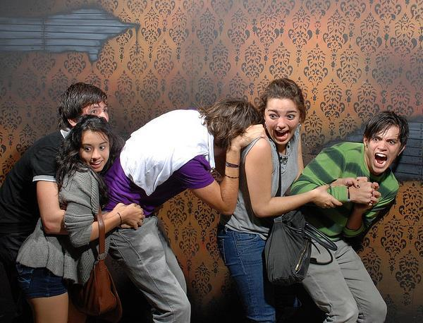 Scared Haunted House Photos