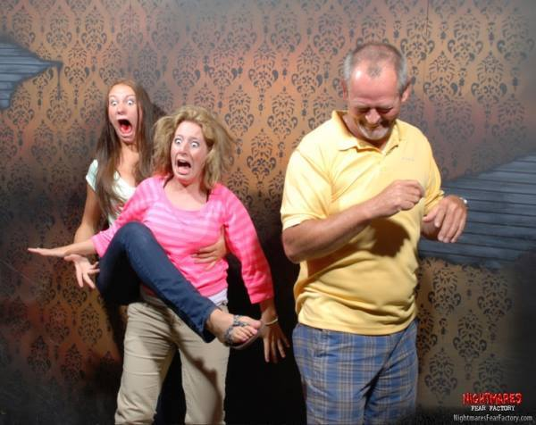 Haunted House Reactions Screaming