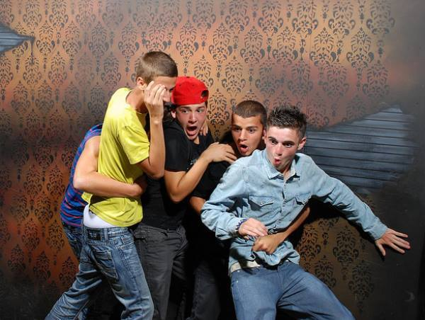Haunted House Reactions Teenagers