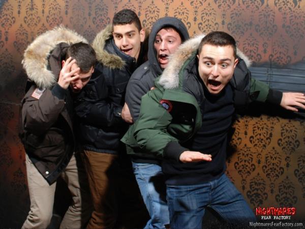 Haunted House Terrified Reaction
