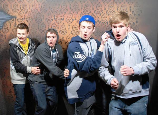 Pictures Of Scared Guys At A Haunted House