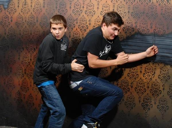 Scared Bro Running At Haunted House