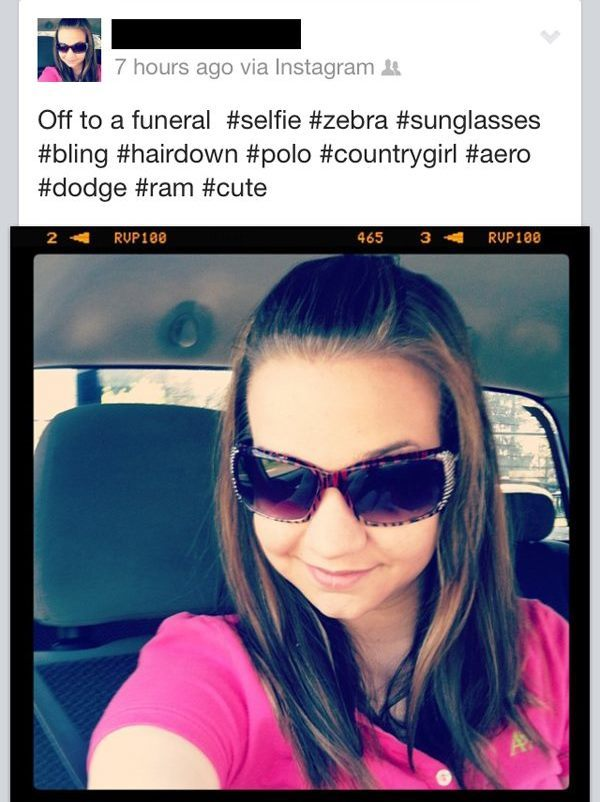 Sexy Selfy Off To A Funeral