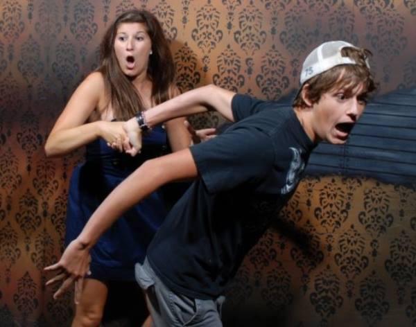 Terrified Haunted House Running