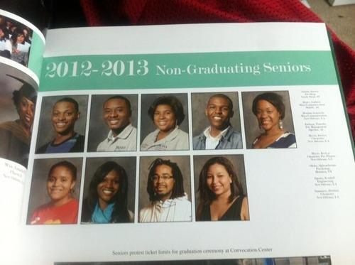 Non-Graduating Seniors Yearbook Page