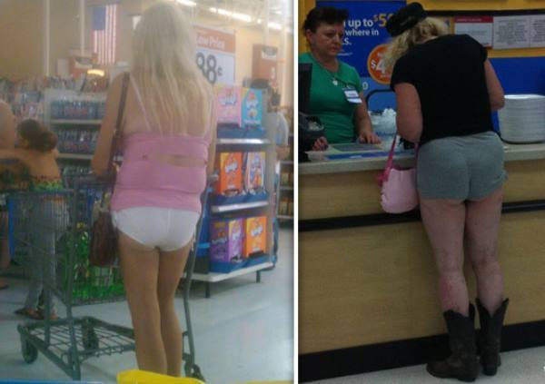 People Of Walmart Short Shorts