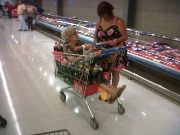 Shopping Cart Grandma