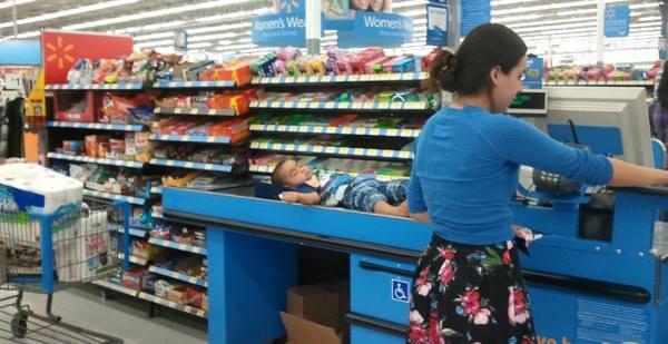 Baby On Checkout Belt