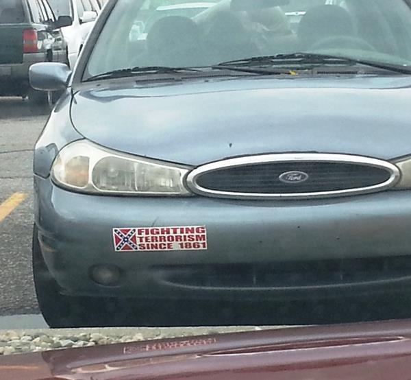Confederate bumper sticker at walmart