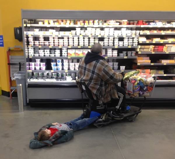 Drag Your Kid At Walmart