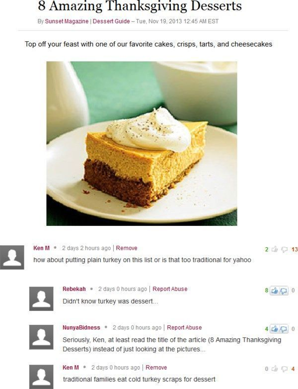 Funny Troll Thanksgiving Deserts
