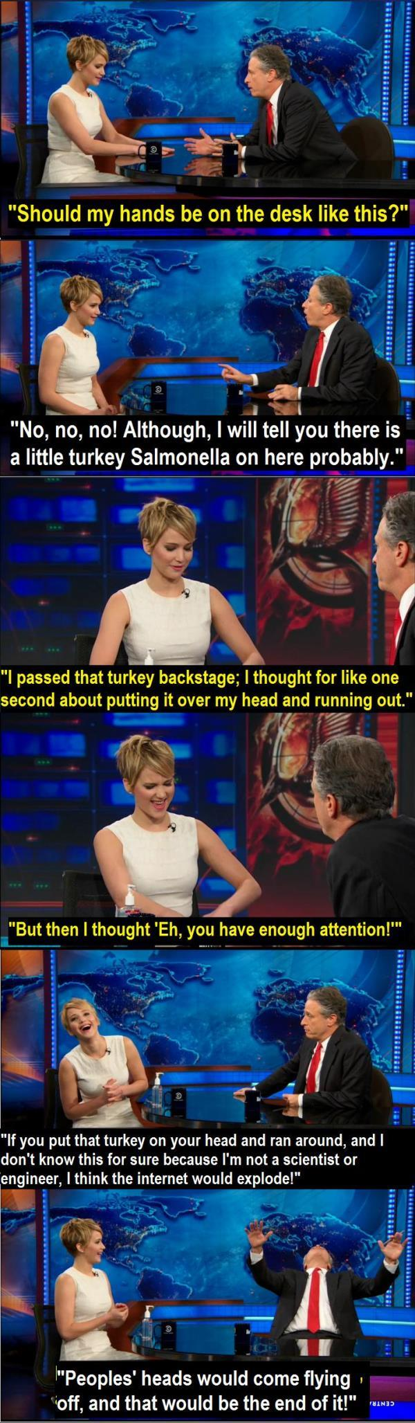 Jennifer Lawrence On The Daily Show