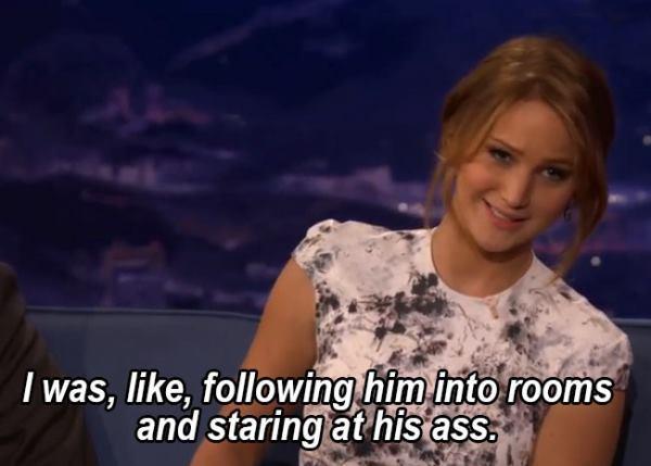 Jennifer Lawrence Stalks John Stamos