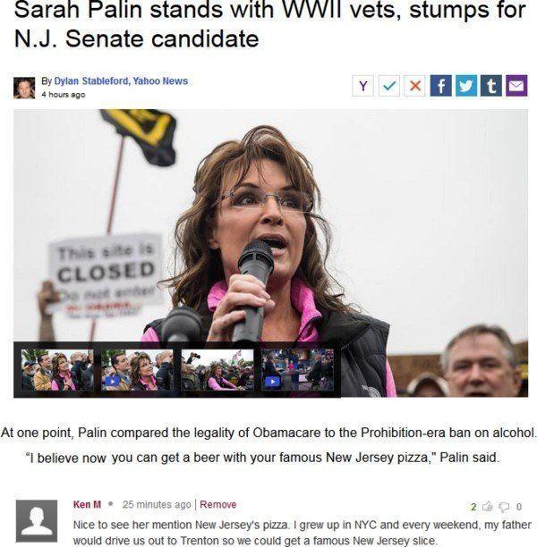 Ken M On Sarah Palin