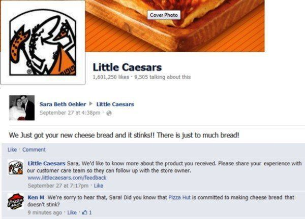 Little Caesars Facebook Page