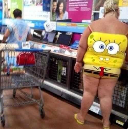 Only At Walmart Spongebob
