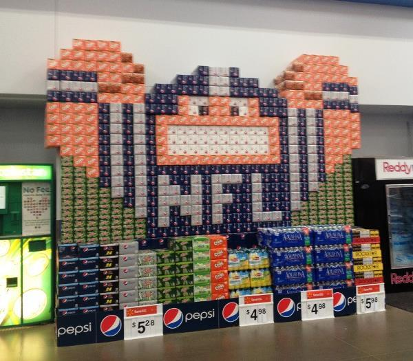 Soda Display Only At Walmart