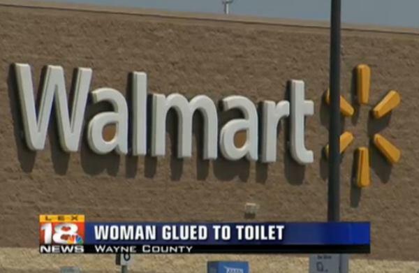 Woman Glued To Toilet